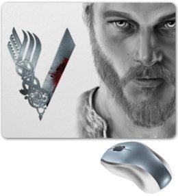 "Коврик для мышки ""Рагнар. Викинги"" - викинги, путь воина, рагнар, сериал викинги"