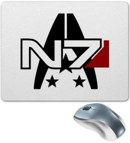 """Коврик для мышки """"Mass Effect"""" - компьютерные игры, mass effect, n7, масс эффект, геймерские"""