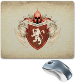 """Коврик для мышки """"Ланнистер"""" - арт, герб, игра престолов, ланнистеры"""