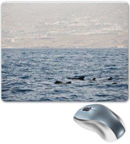 """Коврик для мышки """"Дельфины в морских волнах"""" - море, дельфины, алина макарова"""