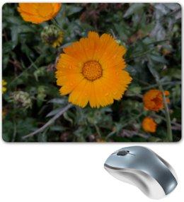 """Коврик для мышки """"Летние цветы"""" - любовь, лето, обнимашки, тепло, memory"""