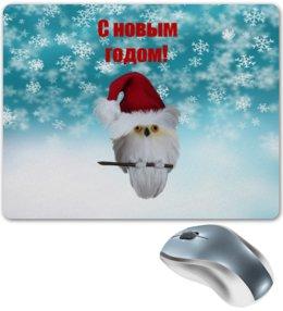 """Коврик для мышки """"Новый год"""" - новый год, снег, сова, снежинки, дед мороз"""
