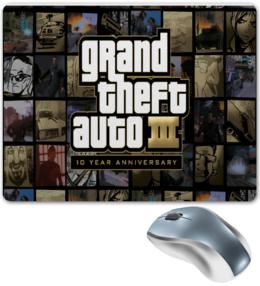 """Коврик для мышки """"Grand Theft Auto 3: 10 Year Anniversary"""" - коврик"""