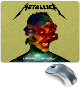 "Коврик для мышки ""Metallica Band"" - heavy metal, metallica, рок музыка, рок группа, thrash metal"