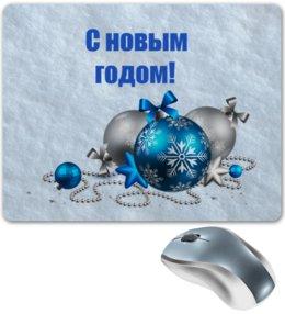 """Коврик для мышки """"Новый год"""" - праздник, новый год, зима, игрушки, снежинки"""