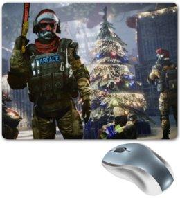 """Коврик для мышки """"Warface Новый Год"""" - новый год, игры, game, warface, шутер"""