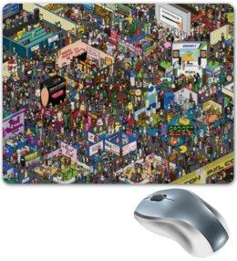 """Коврик для мышки """"PIXEL"""" - пиксели, город, анимация, прикол"""