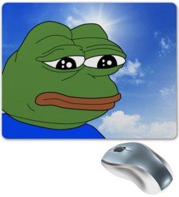 """Коврик для мышки """"SAD FROG"""" - мем, meme, грустная лягушка, sad frog"""