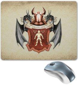 """Коврик для мышки """"Болтон"""" - арт, герб, игра престолов, болтоны"""