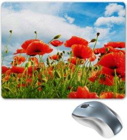 """Коврик для мышки """"Поле маков"""" - цветы, весна, природа, мак, поле"""