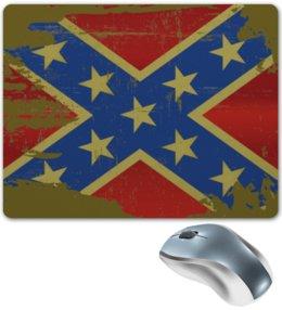 """Коврик для мышки """"Флаг конфедерации США"""" - флаг, америка, конфедерация, флаг конфедерации, арт"""