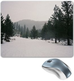 """Коврик для мышки """"Зима. Снег"""" - прикольно, арт, юмор, приколы, стиль, зима, популярные, прикольные, в подарок, снег"""