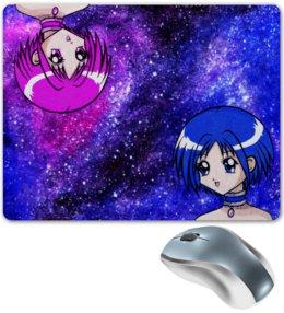 """Коврик для мышки """"Аниме девочки"""" - аниме, космическое аниме, токийские кошечки, аниме тян, космос аниме"""