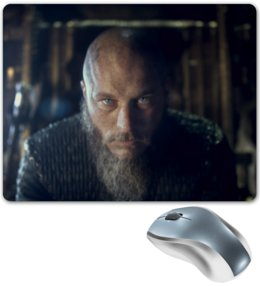 """Коврик для мышки """"Рагнар"""" - викинги, сериал викинги, рагнар"""