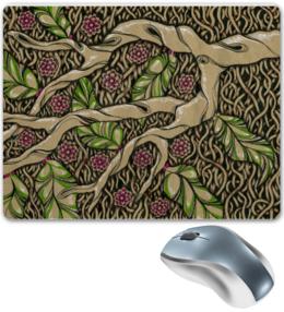 """Коврик для мышки """"Дерево"""" - цветы, графика, цвет, дерево"""