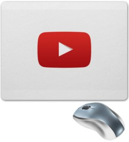 "Коврик для мышки ""YouTube "" - logo, youtube"