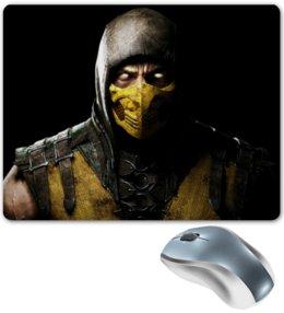 """Коврик для мышки """"Scorpion"""" - скорпион, mortal kombat, мортал комбат, scorpion, cмертельная битва"""