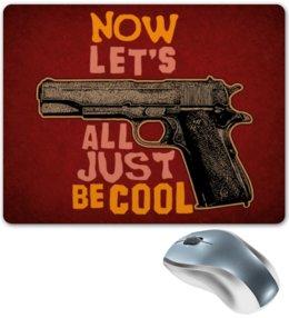"""Коврик для мышки """"Оружие арт"""" - пистолет, арт, дизайн, оружие, ствол"""