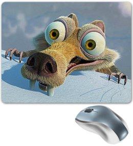 """Коврик для мышки """"ЛЕДНИКОВЫЙ ПЕРИОД. ICE AGE"""" - персонаж, юмор, стиль, мультфильмы, арт фэнтези"""