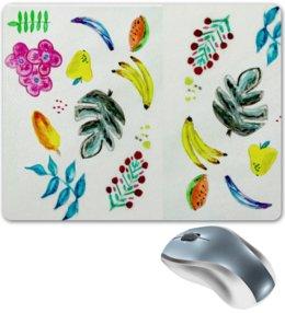 """Коврик для мышки """"Фрукты"""" - лето, фрукты, ягоды, арбуз, бананы"""
