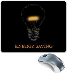 """Коврик для мышки """"Энергосберегающий"""" - энергия, энергосберегающий, сбережение, лампочка, электричество"""