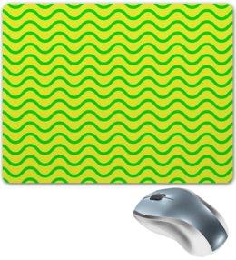 """Коврик для мышки """"Узор волн"""" - узор, полосы, желтый, волны, линии"""