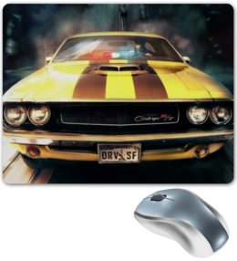 "Коврик для мышки ""Dodge Challenger"" - ретро, driver, dodge, american muscle, challenger, drvsf, додж"