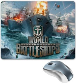 "Коврик для мышки ""World of warships"" - игры, корабли, world of warships, video games, battleships"