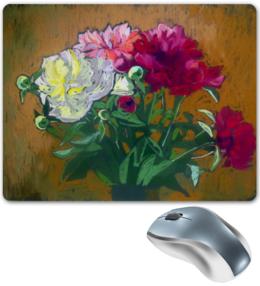 """Коврик для мышки """"Пионы."""" - красиво, цветы, природа, коврик для мыши, пионы, пастель, кира"""