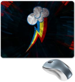 "Коврик для мышки ""Rainbow cutemark "" - арт, mlp, pony, пони, magic, friendship"