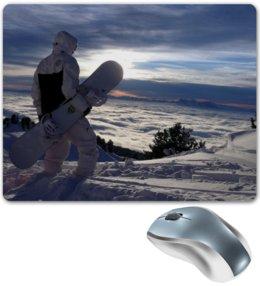 "Коврик для мышки ""Сноуборд"" - снег, красота, горы, сноуборд, snowboard, экстрим, доска, extreme, board, ride"