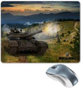 "Коврик для мышки ""World Of Tanks"" - игра, game, world of tanks, танки, wot"