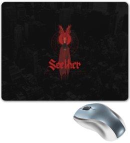"Коврик для мышки ""Seether"" - rock group, seether, seether logo"