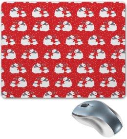 """Коврик для мышки """"Белые медведи"""" - новый год, мишка, снежинки, медведи, белый медведь"""