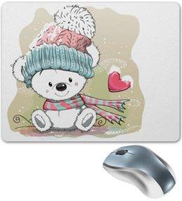 """Коврик для мышки """"Медвежонок"""" - юмор, зима, рисунок, мультяшка, медвежонок"""