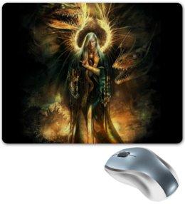 """Коврик для мышки """"Ангел"""" - крылья, ангел, апокалипсис, человек, драконы"""