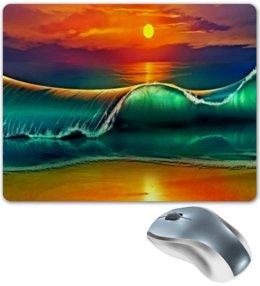 """Коврик для мышки """"Закат"""" - море, природа, закат, пейзаж, песок"""