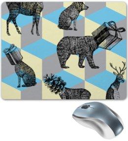 """Коврик для мышки """"животные"""" - праздник, новый год, животные, зима, подарки"""