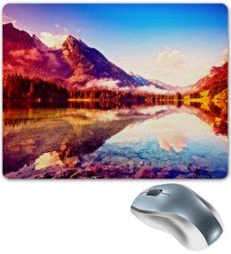"""Коврик для мышки """"Природа"""" - природа, горы, вода, пейзаж, краски"""