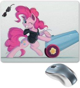 "Коврик для мышки ""PinkiePie and PartyCannon"" - mlp, pinkie pie"