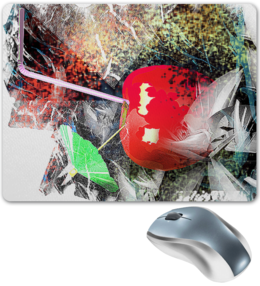 """Коврик для мышки """"Яблочный микс"""" - абстракция, фрукт, напиток, натюрморт, яблоко"""