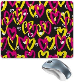 """Коврик для мышки """"Сердечки"""" - сердце, любовь, узор, сердечки, день валентина"""