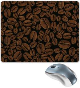 """Коврик для мышки """"Кофейный"""" - арт, стиль, рисунок, кофе, зерно"""