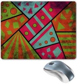 """Коврик для мышки """"Яркая геометрия"""" - полосы, круги, геометрия, треугольники"""