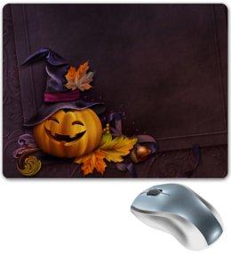 """Коврик для мышки """"Хэллоуин"""" - хэллоуин, тыква"""