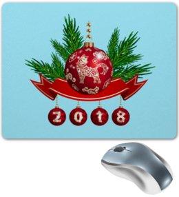 """Коврик для мышки """"Новый год"""" - новый год, шар, ель"""