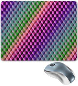"""Коврик для мышки """"Градиент"""" - графика, краски, геометрия, градиент, шестиугольник"""