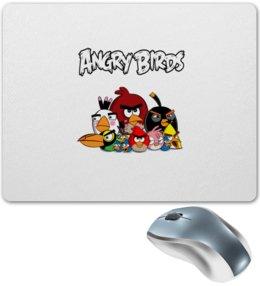 "Коврик для мышки ""Angry Birds"" - птицы, птички, мульт, angry birds, энгри бёрдз"