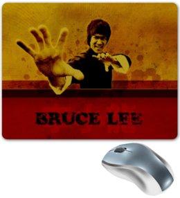 """Коврик для мышки """"Брюс Ли"""" - арт, брюс ли, драки, кунг фу, герой"""