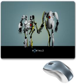 """Коврик для мышки """"Portal 2 коврик для мышки."""" - прикольно, прикол, арт, юмор, приколы, стиль, популярные, рисунок, прикольные, portal"""
